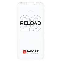 SKROSS powerbank Reload 20, 20000mAh, 2x 2A výstup, microUSB kabel, bílý