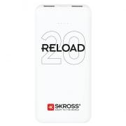 SKROSS powerbank SKROSS Reload 20, 20000mAh, 2x 2A výstup, microUSB kabel, bílý