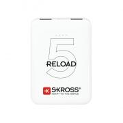 SKROSS powerbank SKROSS Reload 5, 5000mAh, 2x 2A výstup, microUSB kabel, bílý