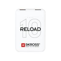 SKROSS powerbank Reload 10, 10000mAh, 2x 2A výstup, microUSB kabel, bílý