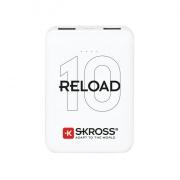 SKROSS powerbank SKROSS Reload 10, 10000mAh, 2x 2A výstup, microUSB kabel, bílý