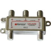 Rozbočovač OPTICUM 4xF HQ 5-2400 MHz, průchozí všemi směry