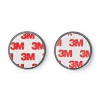 Montáž detektoru | Magnetické | Průměr: 39.4 mm | Lepicí páska | 1 ks | Stříbrná