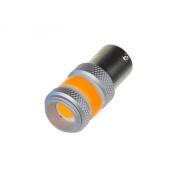 Autožárovka LED BA15s 9-60V 12W STU oranžová