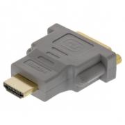 Adaptér High Speed HDMI HDMI Konektor - DVI-D 24+1p Zásuvka Šedá