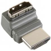 Adaptérem High Speed HDMI s Ethernetem Úhlový 270° HDMI Konektor - HDMI Zásuvka Šedá