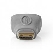 HDMI Adaptér | HDMI Mini Konektor – HDMI Zásuvka | Šedý