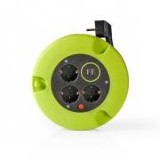 Kabelový Buben | 5,0 m | 3x 1,5 mm² | Tepelná Elektrická Pojistka | Schuko a USB