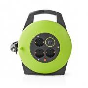 Kabelový Buben | 10,0 m | 3x 1,5 mm² | Tepelná Elektrická Pojistka | Schuko a USB