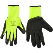 Pracovní zimní rukavice vel.8 zelené GEKO