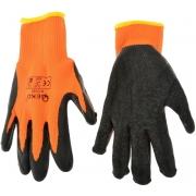 Pracovní zimní rukavice vel. 8 oranžové GEKO