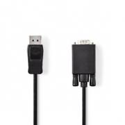 DisplayPort – VGA Kabel | DisplayPort Zástrčka – VGA Zástrčka | 1 m | Černý