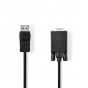 DisplayPort – VGA Kabel | DisplayPort Zástrčka – VGA Zástrčka | 2 m | Černý