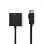 DisplayPort – VGA Kabel | DisplayPort Zástrčka – VGA Zásuvka | 0,2 m | Černý