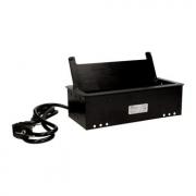 ORNO Výklopný blok zapuštěný, 2x 230V, 2x USB nabíjecí, 2x RJ45, barva černá, kabel  1,5m