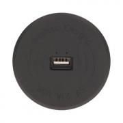 ORNO Vestavěná bezdrátová indukční nabíječka s USB portem, barva černá