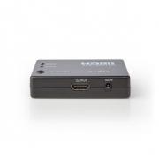 HDMI Přepínač | 3 Porty | 3x HDMI Vstup | 1x HDMI Výstup | 1080p | ABS | Antracitový | Balení