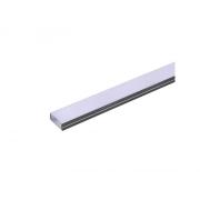 AL profil pro LED, AS3 pro více pásků 23,5x10mm l,2m (zacvakávací/zasunovací)