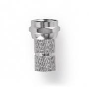 F-Konektor | Zástrčka | 7,0 mm | Šroubovací | Kovový