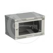 Rozvaděč nástěnný SENSA 6U 400mm, dveře sklo, RAL 7035, SENSA-6U-64-11-G