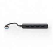 USB Rozbočovač | 4portový | USB 3.0 | Černý