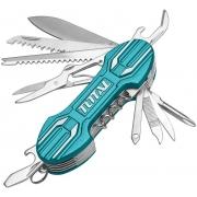 Nůž kapesní zavírací, 15 dílný, nerez, 95mm TOTAL