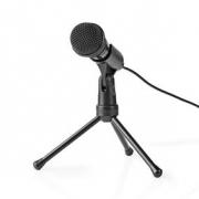 Kabelový Mikrofon | Tlačítko ON/OFF | S Tříramenným Stojanem | 3,5 mm