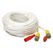 Kabel  pro kamery. Konektory BNC+DC 22,5m bílý