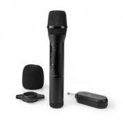 Bezdrátový Mikrofon | 20 Kanálů | 1 Mikrofon | Doba Provozu 10 Hodin | Přijímač | Černý