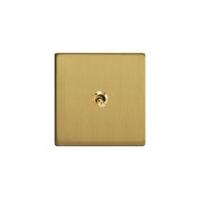 Govena luxusní vypínač jednoduchý, křížový, páčkový, broušená mosaz