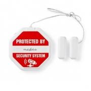 Tenký Alarm s Detektorem Tříštění Skla pro Dveře / Okna | Integrovaná Siréna