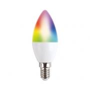 Chytrá WiFi žárovka LED E14  5W RGB SOLIGHT WZ431