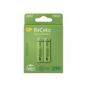 Baterie AA (R6) nabíjecí 1,2V/1300mAh GP Recyko  2ks