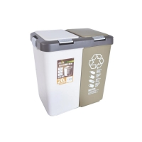 Sada odpadkových košů ORION Duo Dust 2x10l