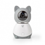 Nedis Chytrá Wi-Fi IP Kamera pro Vnitřní Použití | Otáčení/Náklon | Full HD | Automatické sledování | Funkce Lullaby | Snímač Te
