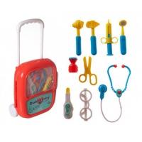 Dětský doktor TEDDIES se stetoskopem v kufříku