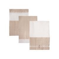 Utěrka ORION Dot Gifty bavlna 3ks béžová