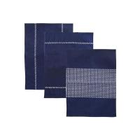 Utěrka ORION modrotisk bavlna 3ks