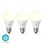 Wi-Fi Chytrá LED Žárovka | Teplá Bílá | E27 | 3 Kusy