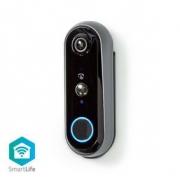 SmartLife Dveřní Video Telefon | Napájení z baterie | Android™ & iOS | Full HD 1080p | IP65 | Wi-Fi / 433 MHz | Šedá/Černá