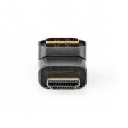 HDMI ™ Adapter | HDMI Zástrčka / Konektor HDMI ™ | HDMI Zásuvka / Výstup HDMI™ | Pozlacené | Úhlový 270° | Hliník | Šedá | 1 pc