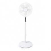 Stojanový Ventilátor | Průměr: 40 cm | 3-Rychlostní | Rotace | 45 W | LED Displej | Časovač vypnutí | Dálkové ovládání | Bílá