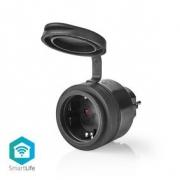 SmartLife Chytrá Zásuvka | IP44 | 3680 W | Schuko / Typ F (CEE 7/7) | -20 - 50 °C | Android™ & iOS | Wi-Fi | Černá