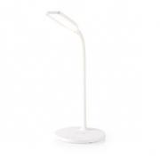 LED Lampa s Bezdrátovou Nabíječkou | Vypínač a Stmívač | Qi | 10 W | Studená, Teplá a Přirozená Bílá | 2 700-6 500 K | Bílá