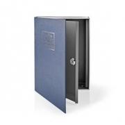 Trezor | Book Safe | Zámek | Vnitřní | Velký | Vnitřní objem: 2.8 l | 2 klíče | Modrá/Stříbrná
