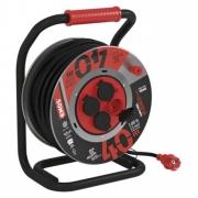 Guma-neoprén prodluž. kabel, buben kovový – 4z, 40m, 2,5mm2