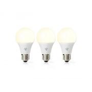 Smart žárovka LED E27 9W teplá bílá NEDIS WIFILW32WTE27 WiFi 3ks