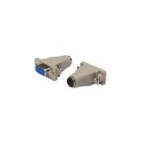 Redukce Digitus Adaptor, PS/2, Serial -MiniDIN6F, DB9F Molded, with Hex Screws (AB 406)