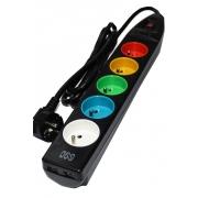Přepěťová ochrana s barevnými zásuvkami