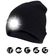 čepice CAP03 s LED světlem černá